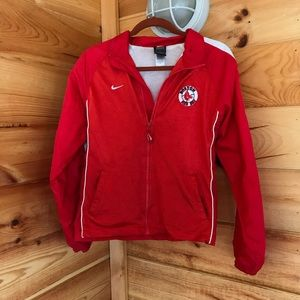 RED WINDBREAKER RED SOX NIKE EMBROIDERED JACKET
